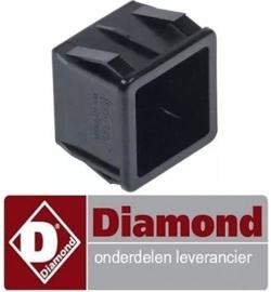 995226072 - Elementhouder zwart voor drukknop vaatwasser DIAMOND