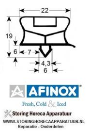 930901612 - Koeldeurrubber profiel 9794 - B 530mm - L 580mm steekmaat  AFINOX