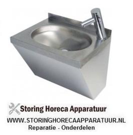 041542320 - Handenwasbak RVS B 500mm D 400mm H 390mm bassin mm met hendelmenger