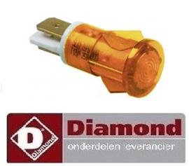 580A08003 - ORANJE SIGNAALLAMPJE DIAMOND FSM-2V6E/N