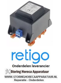 014EA140080 - Transformator primair 230VAC secundair 17VAC 20VA secundair 1,17A  RETIGO B611i