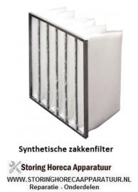 SYNTHETISCHE ZAKKENFILTER KLASSE G4 - IFS35