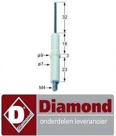 131100701 - Ontstekings bougie waakvlam voor gas friteuse DIAMOND F15-15G/M