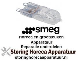 252824610747 - Halogeenlamp 230Volt - 40 Watt temp. bestendigheid 300°C voor oven SMEG