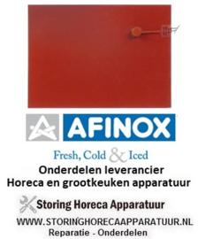 104416371 - Plakelement L 400mm B 290mm 1000W 230V t.max. 140°C met temperatuurbegrenzer silicone AFINOX