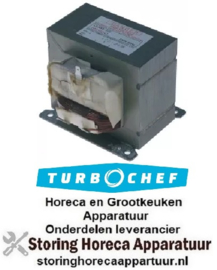 224401998 - HV-transformator primair 230V secundair 2000KV aansluiting vlaksteker 50Hz type DPC102103 TURBOCHEF