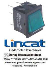 161301253 - Wipschakelaar inbouwmaat 28x22mm groen 2NO 250V 16A verlicht aansluiting vlaksteker 6,3mm LINCAT