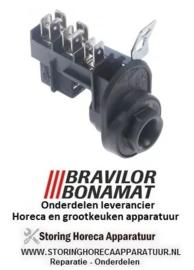 0296006001101 - Netaansluitingsklem 3-polig max. spanning 400V max, fasen 1 BRAVILOR, BONAMAT FRESHONE