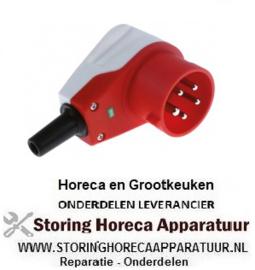 299550214 - Stekker C-Form CEE haaks 5-polig contact 3P+N+PE max. 16A max. spanning 400V bescherming IP44