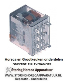 246380449 - Vermogensrelais FINDER 230VAC 12A 4CO aansluiting F4,8 roostermaat 10mm steekaansluiting