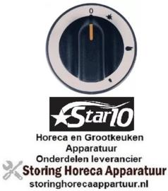 208112012 - Knop gaskraan met ontstekingsvlam ø 71mm as ø 8x6,5mm afvlakking boven STAR-10