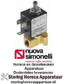 """189370839 - Magneetventiel koper 3-weg 230VAC aansluiting 1/8"""" L 30mm nominale breedte 2,3mm ODE serie NuovaSimonelli"""