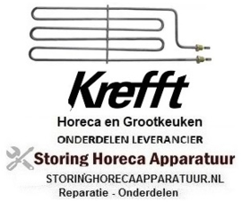 384415608 - Verwarmingselement 2000W 230V VC 1 L 430mm B 135mm aansluitingslengte 20mm KREFFT