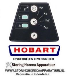 5826.947.17 - Bedieningsfolie spoeltechniek universele vaatwasser zwart/wit HOBART