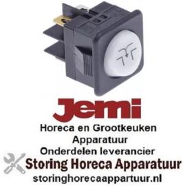 103347868 - Wiptaster inbouwmaat 27,8x25mm wit 1NO/signaallamp 250V 16A afvoerpomp aansluiting vlaksteker 6,3mm JEMI