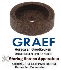 166697575 - Slijpsteen ø 45mm dikte 10mm boring ø 8mm korreling crica met fase, zonder naaf voor snijmachine GRAEF