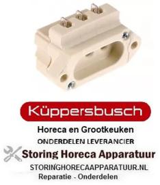 925550405 - Stopcontact vlaksteker 6,3mm voor verwarmingslelement 2-polig + aarding KUPPERBUSH