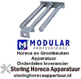 723105075 - Staafbrander 3 rijen L 455mm B 185mm H 45mm grillplaat MODULAR