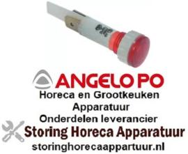743359380 - Signaallamp ø 10mm 230 Volt rood ANGELO-PO