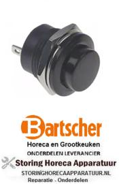 020347363 - Drukschakelaar tastend inbouw zwart 250V 3A  BARTSCHER