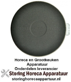 VE464490129 - Kookplaat 1.500W / 230V Ø180mm met 8mm rvs rand