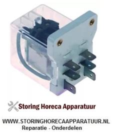 ST150910006 - Vermogensrelais 230VAC 16A 2NO aansluiting vlaksteker schroefbevestiging RHIMA DR59