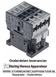 182380772 - Relais AC1 25A 230VAC (AC3/400V) 10A/4kW hoofdcontact 3NO hulpcontact 1NO