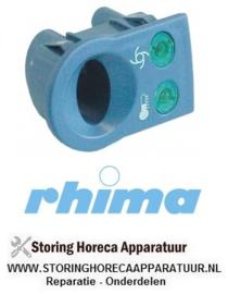 34550900121 - Elementhouder blauwgrijs inbouwpositie links temperatuur - pomp verlicht  RHIMA