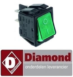 442401500550 - Wipschakelaar groen DIAMOND