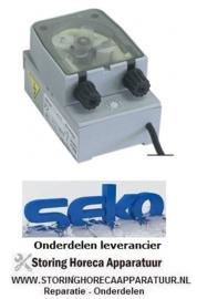 7733.612.15 - Doseerpomp naglans SEKO frequentieregeling 0,3-3,0l/h 230 VAC wasmiddel slang ø 4x6mm slangtype K