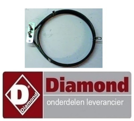 039.565.005.00 -Cirkelvormig verwarmingselement 230V - 1600W   DIAMOND