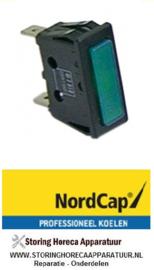 3591013916017 - Signaallamp inbouwmaat 30 x 11 mm 230V groen  NordCap KU 380