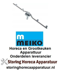 2129542559 - Naspoelarm L 470mm sproeiers 4 inbouw ø 15,7mm inbouwpositie onder compleet  MEIKO