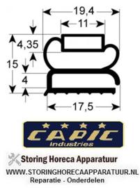 028900728 - Koeldeurrubber profiel 9207 B 387mm L 495mm buitenmaat CAPIC