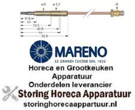 6631.076.08 - Thermokoppel M9x1 L 500mm steekhuls ø6,0(6,5)mm MARENO