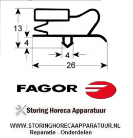 089901764 - Koelkastdeurrubber profiel 9013 B 1503mm L 685mm steekmaat  Fagor