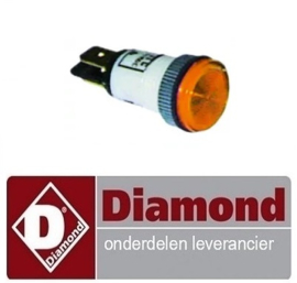 213166466  - Signaallamp ø 13mm 230V geel E77/F DIAMOND