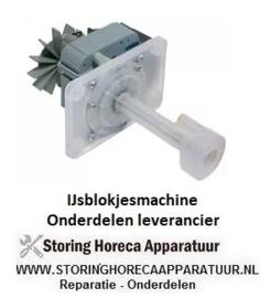 0495.000.49  - Pomp  100W 230V 50Hz uitgang ø 14mm L 105mm rotatierichting rechts voor ijsblokjesmaker
