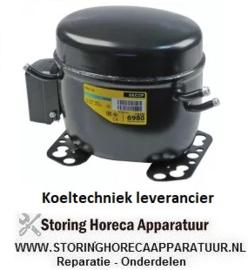 113.6052.05 - Compressor koelmiddel R134a type FR11G 220-240V 50Hz HMBP 10,6kg 1/4HP vermogensverbruik 275 Watt