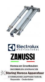 282105483 - lavasteengrill staafbrander 2-rijen L 468mm B 200mm H 45mm  Electrolux, Zanussi