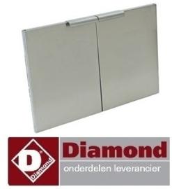 223N60/PDGX6 - Linkse en rechtse deuren voor onderstel 600 mm RVS DIAMOND
