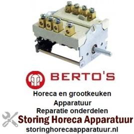 146300076 - Nokkenschakelaar 4 schakelstanden voor BERTOS