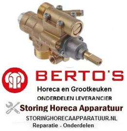 111101092 - Gaskraan type 23S/O gasingang M28x1,5 (pijp ø 20mm) BERTOS