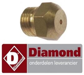 42667400300 - Gasinspuiter 3.5 KW voor propaangas fornuis DIAMOND C6GA11-SP
