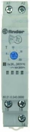 380942 - Tijdrelais FINDER F45 tijdbereik 0,1s-24h 12-240V AC/DC 16A inbouwmaat DIN-railmm 1CO