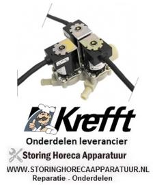 0067.6300203.28 - Magneetventiel drievoudig recht steamer KREFFT GG10.11NT