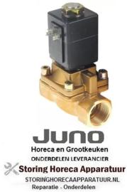 """533370334 - Magneetventiel 2-weg 230 VAC voor kookketel aansluiting 1"""" nominale breedte 25mm steekbus DIN 180°C BÜRKERT JUNO"""
