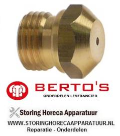 68440120500 - Gasinspuiter aardgas lavasteengrill BERTOS G6PL80B