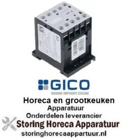 303380086 - Relais AC1 16A 230VAC (AC3-400V) 5A-2,2kW hoofdcontact 3NO hulpcontact 1NC GICO