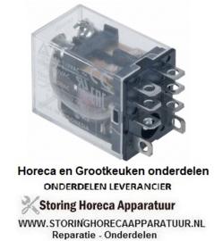 152380475 - Vermogensrelais FINDER 220-240VAC 12A 2CO aansluiting F4,8 roostermaat 10mm steekaansluiting